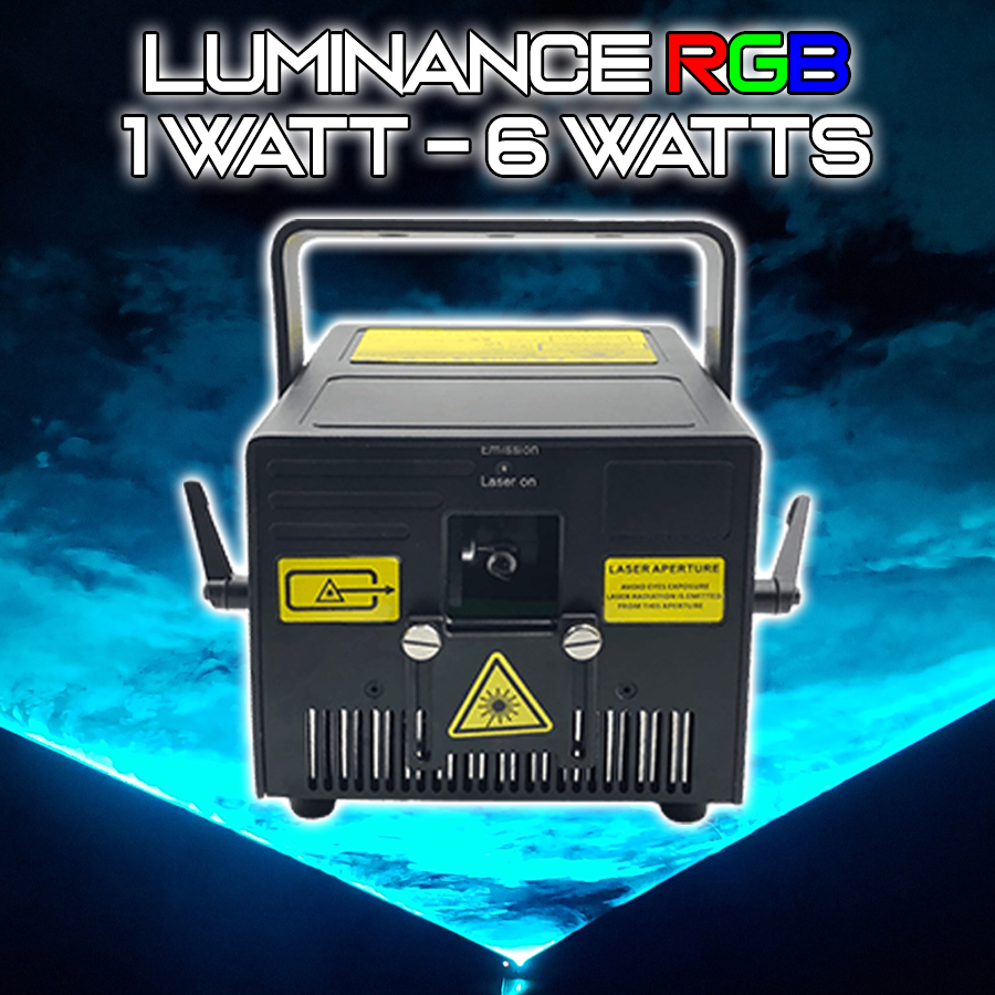 Luminance RGB Laser Light Show Projector. 3 WATTS.