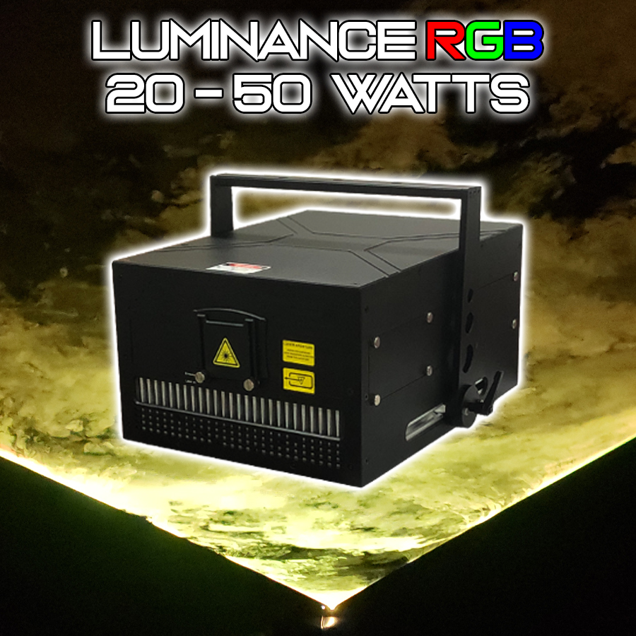 Luminance RGB Laser Light Show Projector. 25 WATTS