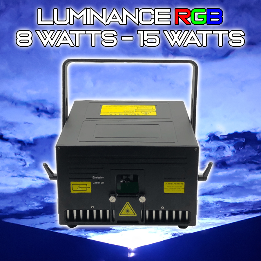 Luminance RGB Laser Light Show Projector. 8 WATTS